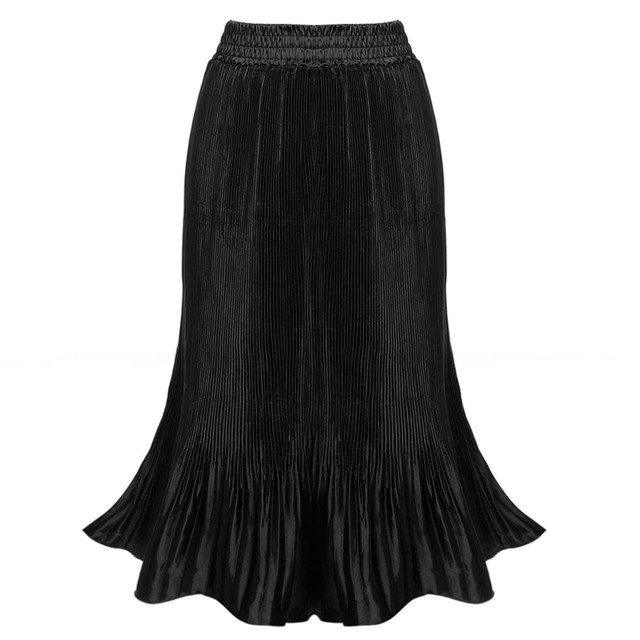 8fc41c64b Vintage Solid Pleated Skirt Casual American Apparel High Waist Skirt Saia  Longa 6 Colors Plus Size