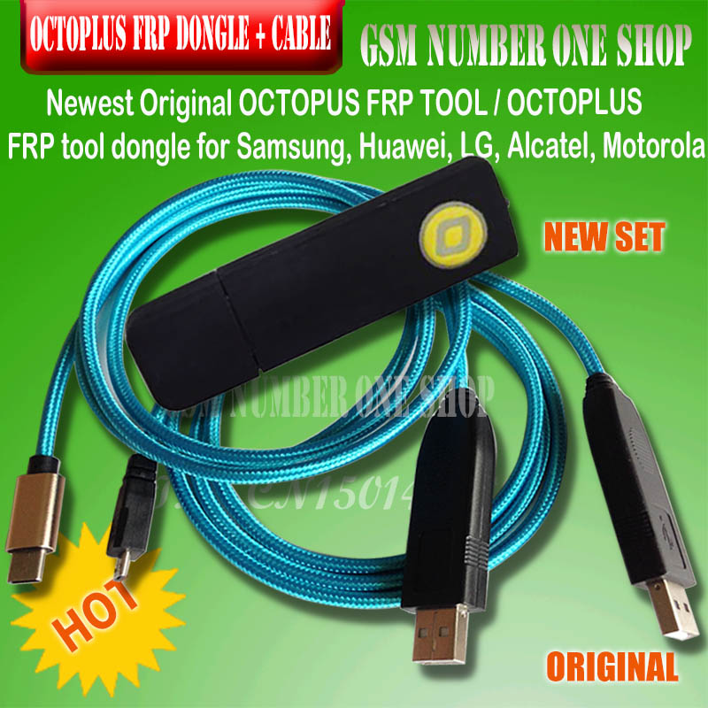 2019 Original New OCTOPLUS FRP TOOL Dongle +cables For Samsung, Huawei, LG, Alcatel, Motorola Cell Phones