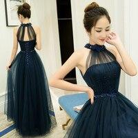 Royal Blue Vestidos De Fiesta De Noche Fashion Simple Evening Dresses Long Real Photo Evening Dress Lace Robe De Soiree