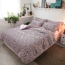 PAPAu0026MIMA Pink Leopard Print Bedding Sets 3 Or 4Pcs