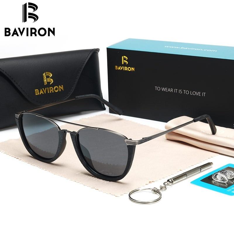 fcaa801dbb6 BAVIRON 2018 New Vintage Sunglasses Men Polarized Similar Wooden Sun  Glasses Unisex UV400 Polarized Lenses Glasses