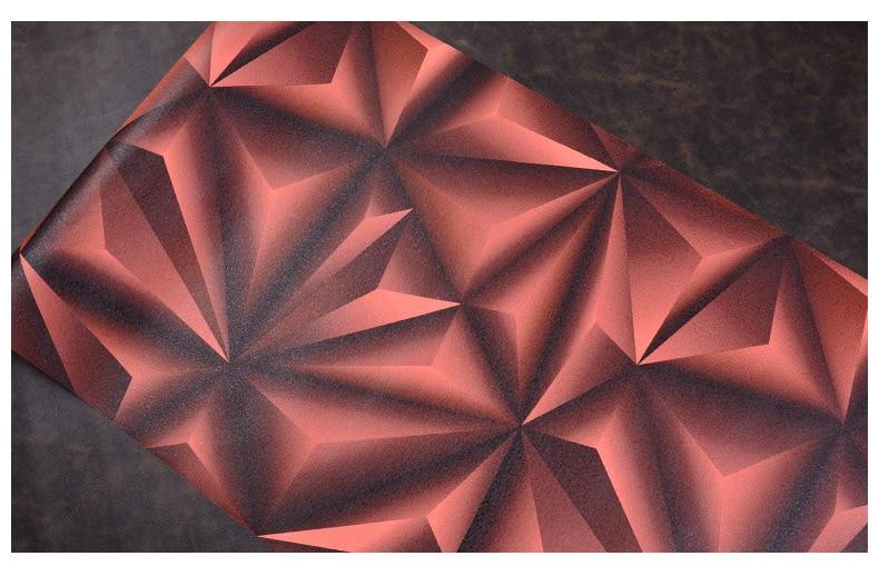 Papier peint pour murs 3 D géométrie trdimensionnelle moderne 4D Tv fond papier peint rouleau argent gris papiers peints pour salon - 5