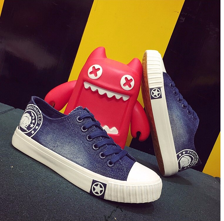 Free Shipping Spring and Autumn Men Canvas Shoes High Quality Fashion Casual Shoes Low Top Brand Single Shoes Thick Sole 7583 -  -  -  -  (2)