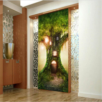 Large Custom Wallpapers 3d Fairyland Quiet Tree Hole Entrance Aisle Background Murals Foam Insulation Soundproofing