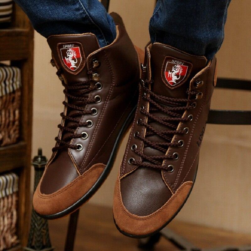 3295dfc13 جديد 2015 الساخن الكلاسيكية 100% جلد طبيعي أحذية الرجال الجلد المدبوغ أحذية  ماركة outdoor العمل المطاط الوحيد الأحذية X322 50 في جديد 2015 الساخن  الكلاسيكية ...