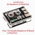 Нарезанная 9-слойная акриловая коробка  не включает Raspberry Pi 3/2 Модель B или двойной вентилятор  двойные вентиляторы охлаждения радиатора