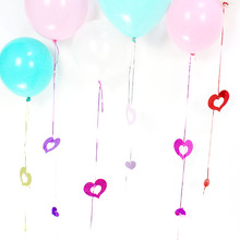KAMMIZAD Balloon Squins Paillette Birthday Party Decoration 10bags/lot Fashion Plastic Heart Shaped For Wedding Accessories