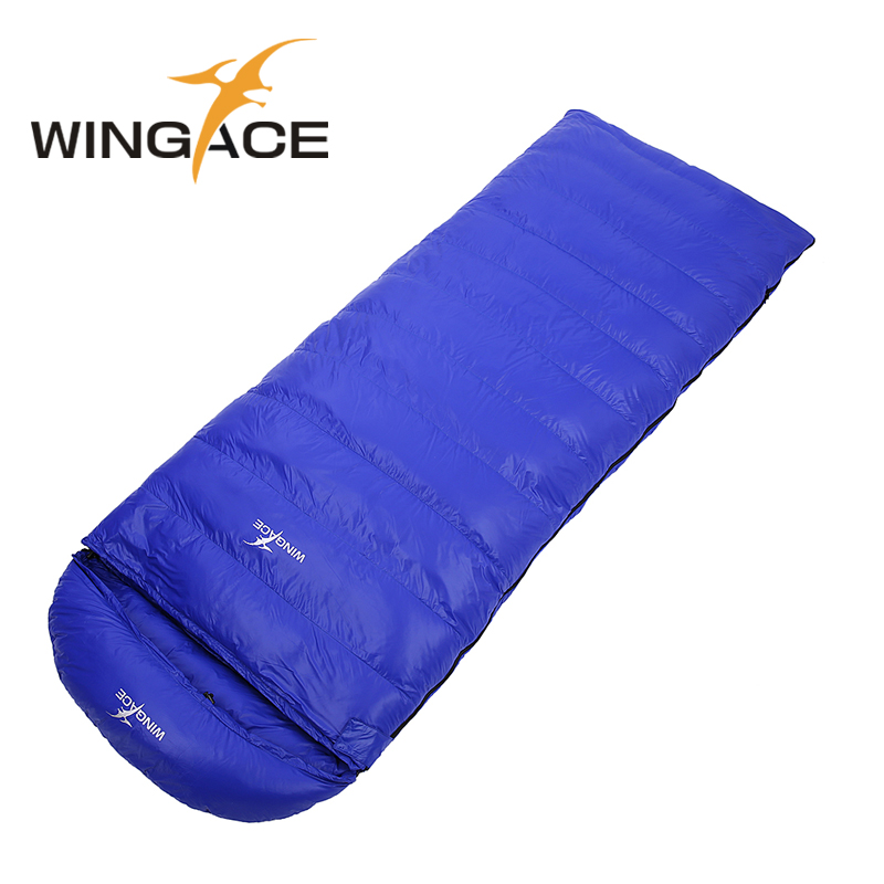 WINGACE Fill 1200G 1500G 1800G 2000G Goose Down Sleeping Bag Winter Hiking Outdoor Camping Envelope Adult Sleeping Bags Warm wingace envelope double sleeping bags fill 2500g 95
