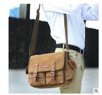 Brand KAKA Men s Messenger bag Canvas Vintage Bolsas Male crossbody bags Men Satchels Single Shoulder