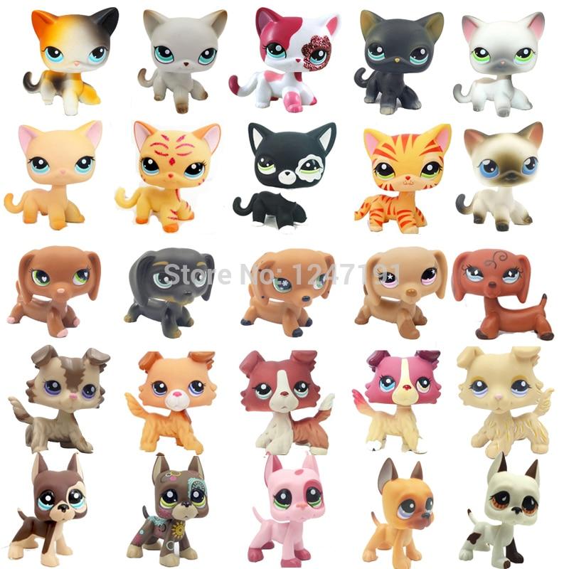 3* Littlest Pet Shop Random Great Dane Dog Collie Dog Cat Kitty LPS Kid Cute Toy