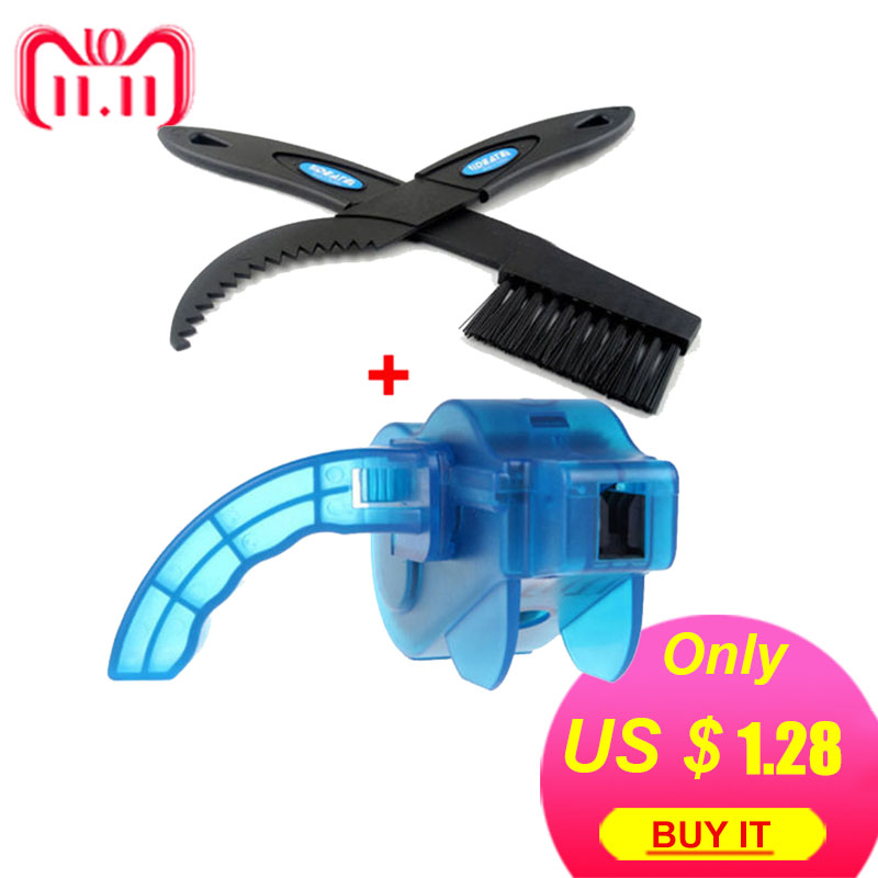 Bicycle Chain Cleaner Scrubber Brushes Mountain Bike Wash Tool Set Cycling Cleaning Kit Bicycle Repair Tools Bicycle Accessories west biking bicycle chain cleaner cycling repair machine brushes wash tool set mtb mountain bike chain cleaner tool kits