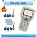 Actualiza versión Inglés 10 frecuencia RFID Copier ID/IC Lector Escritor/copia M1 13.56 MHZ Sector0 cifrada + 30 unids 3 tipos etiquetas