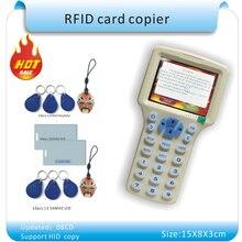 Aktualizacja wersji Angielskiej 10 częstotliwości RFID Kopiarka ID/IC Czytnik Pisarz/kopia M1 13.56 MHZ Sector0 szyfrowane + 30 sztuk 3 rodzajów tagów