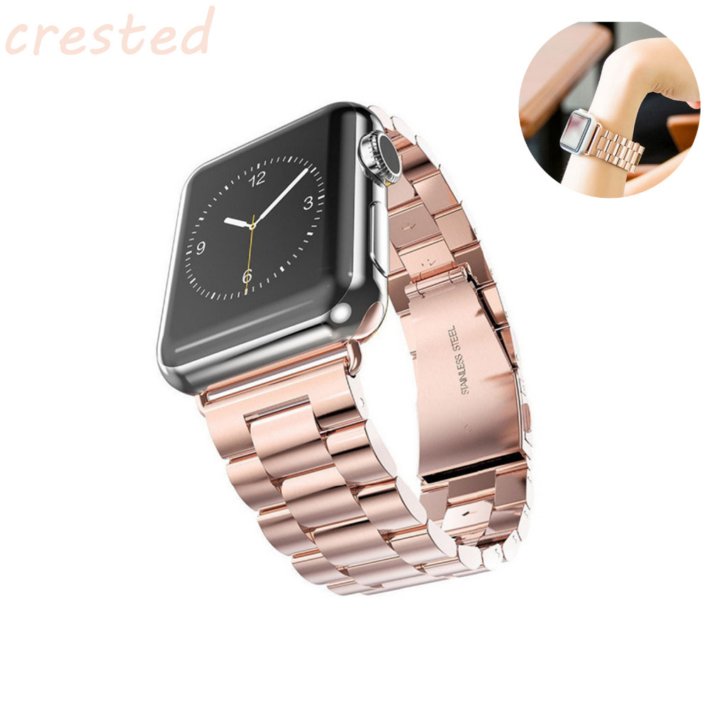 CRESTED link bracelet Watch Strap Band for Apple Watch Band 42mm 38mm stainless steel strap for iwatch 3/2/1 316L metal band цена