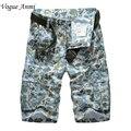 Мода стиль новые мужские военные шорты грузовые случайный пляжные износ летние мужчины короткие брюки шорты плюс размер 30-40