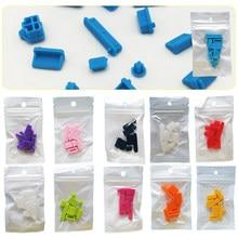 13 قطعة/المجموعة سيليكون الملونة مكافحة الغبار غطاء التوصيل سدادة الغبار المحمول USB الغبار المحمول المكونات الغبار المكونات ملحقات الكمبيوت...