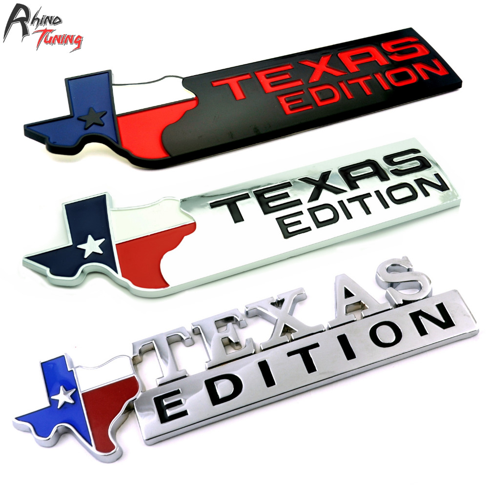 Rhino Tuning Car Styling Texas Edition Auto Badge Sticker Car Fender Bumper Emblem For Cherokee Galaxy Trax Tahoe Camaro 425 жидкость angry vape donald rhino 100мл 0мг