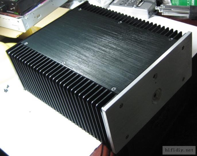 Aluminum class A amplifier enclosure/amplifier chassis AMP BOX with heatsink 1969 aluminum enclosure power amplifier chassis class a amp box dual heatsink