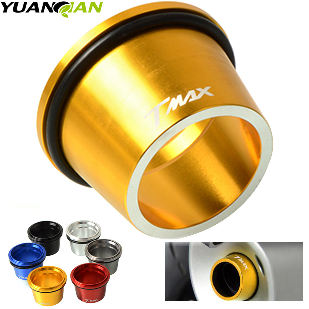 T MAX Custom CNC Aluminum Motorcycle Exhaust Tip Cover For Yamaha T-max 530 TMAX 500 T-max500 2012-2016