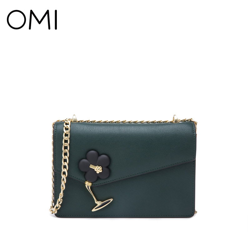 купить OMI new simple women's bag shoulder bag mini leather small square bag chain ladies Messenger bag по цене 5077.37 рублей