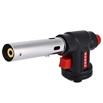 Outdoor Stove Multi-purpose Camping Welding Gas Torch Butane Flame Gun Auto Ignition Flame Thrower Lighter Gas Burners Portable butane torch