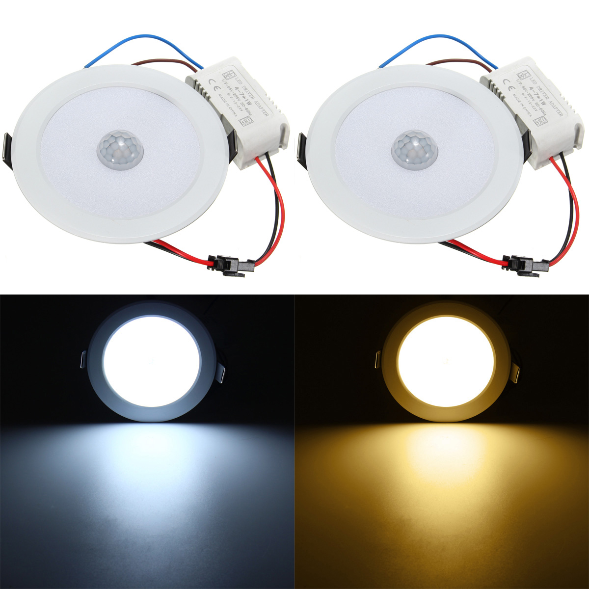 E27 House Motion Sensor Ceiling Light 5730 SMD AC 85-265V LED Night Lamp Warm White Hallway Indoor Lighting 21w 3500k 2500lm 322 smd 3528 led warm white light ceiling lamp w magnet silver ac 110 250v