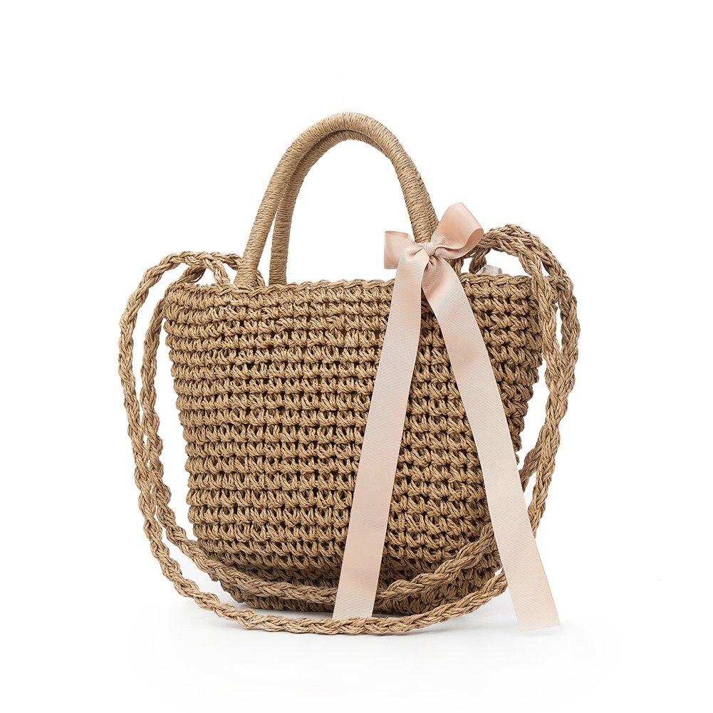 2018 богемный стиль Для женщин Летняя Пляжная сумка большой крючком плетеные сумки на плечо путешествия Handbad WML99