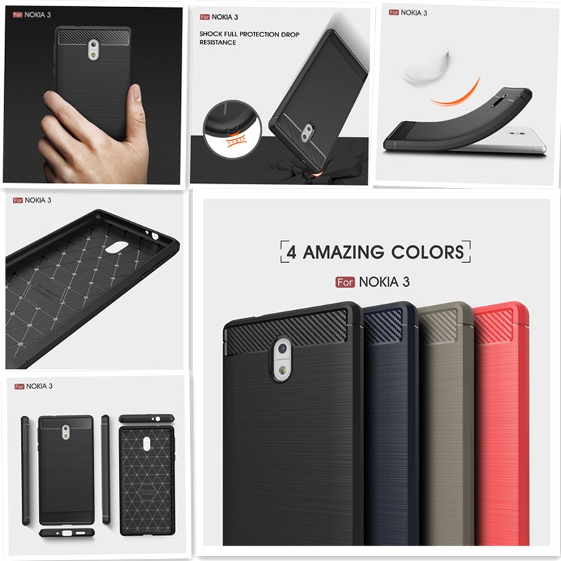 Luxury Hybrid Slim Armor <font><b>Case</b></font> for <font><b>Nokia</b></font> <font><b>3</b></font> Global Dual TA 1020 <font><b>1032</b></font> 1038 Fitted <font><b>Case</b></font> for Nokia3 TA-<font><b>1032</b></font> TA-1020 TA-1038 <font><b>Case</b></font> image