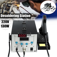 YIHUA 8586 2 In 1 220V 700W ESD Hot Air Rework Station Soldering Station LED Digital