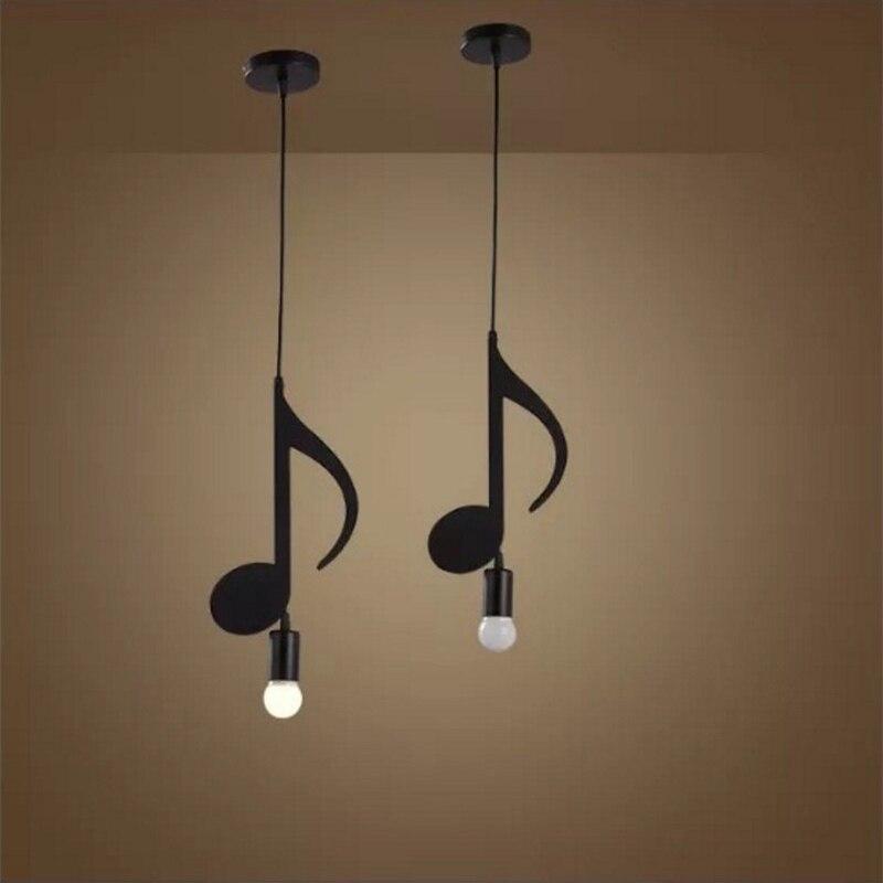 Image 5 - Feiemfeiyou A Z words Music character e27 Creative Black Led Pendant Lamp for Bar bedroom bookroom Pendant Lightingpendant lampled pendant lamplamp for bar -