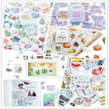 46pcs/box Cute Flowers The Forest Fun mood Paper Label Stickers Decoration DIY Scrapbook Notebook Album seal Sticker Stationery 46pcs box cute small dog kawaii mini paper stickers diary decoration diy scrapbooking label seal hand account sticker stationery