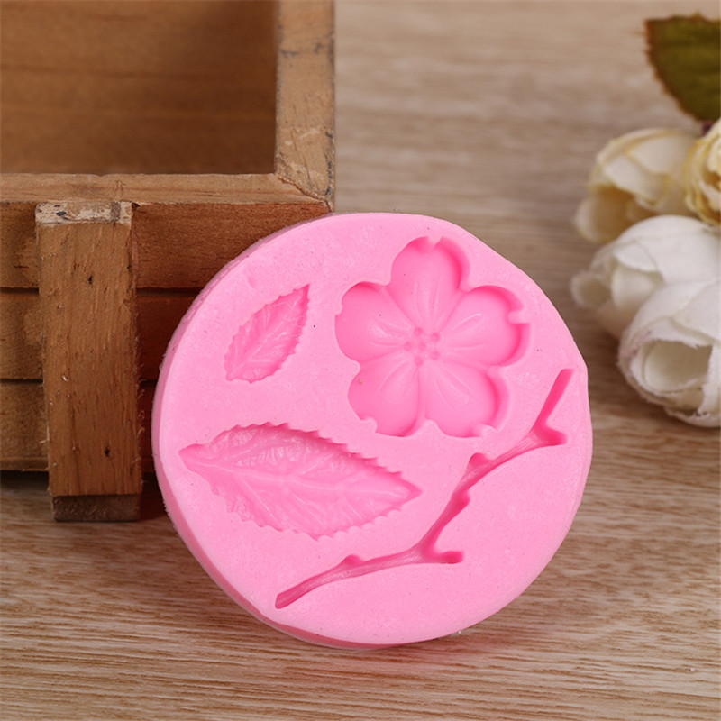 New Arrive Food Grade Silicone Mold Fondant Chocolate Soap Moulds Candy Cake DIY Embossed Sugar Arts Flower Free Shipping