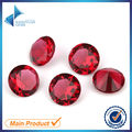 1000pcs 1.0-4.5mm Rose Red Color Round Shape Machine Cut Loose Glass Stone Synthetic Gems For Jewlry