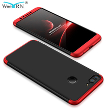 New 3 in 1 Design ShockProof Hybrid 360 Full Body Protective Hard Case For Huawei Honor 9 Lite Back Cover Honor 9 lite Case Capa for apple new ipad 9 7 inch 2017 2018 case hybrid front back 360 full protection cover shockproof 3 layers built in kickstand