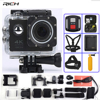 Action Camera F60 F60R Remote Control 4K 1080P/60fps WiFi 2.0 LCD 170D lens Helmet Waterproof 30M Extreme Sport Camera