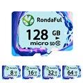 Rondaful cartão de memória de 8 gb 16 gb 32 gb 64 gb 128 gb uhs-1 class10 cartão micro sd tf cartão de memória flash cartão de memória microsd para o smartphone/tablet