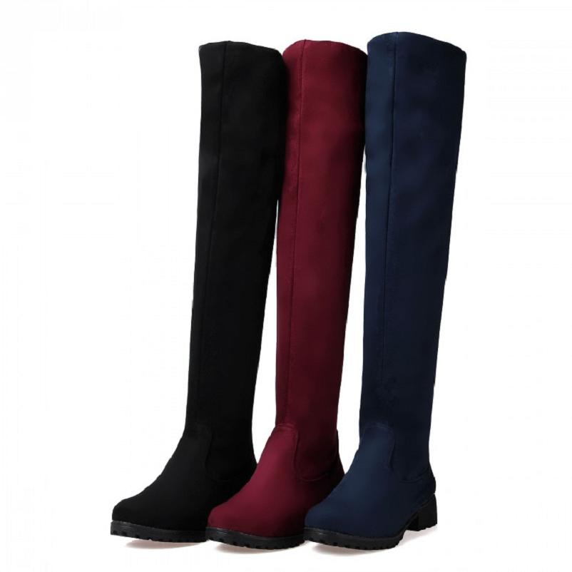 Long Black Boots Flat Suede Promotion-Shop for Promotional Long ...