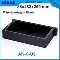 Caixa de junção de alumínio caixas eletrônicos szomk 19 polegada rack caixa do instrumento 88 (H) x482 (W) x250 (L) mm