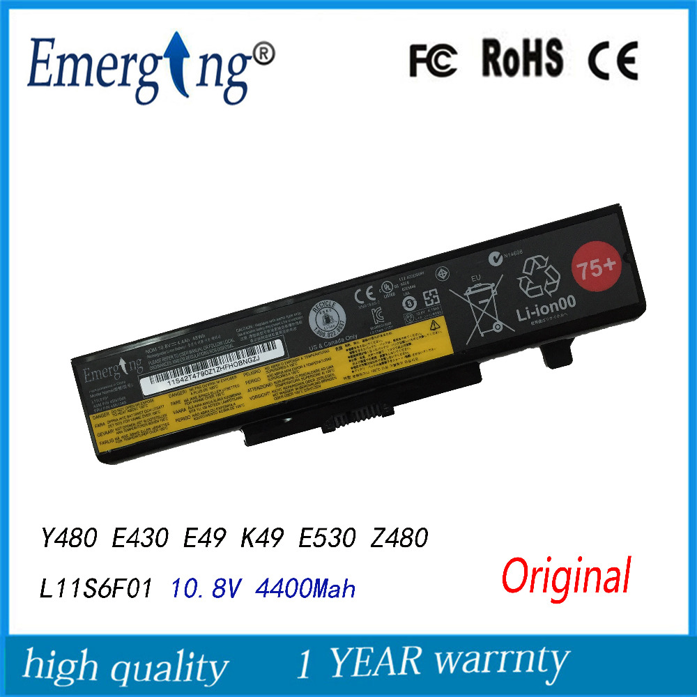 10.8V 48WH Original New Laptop Battery for <font><b>Lenovo</b></font> IdeaPad Y480 Y580 V480 <font><b>V580</b></font> Edge E430 E435 E530 E535 L11S6Y01 L11L6F01 L11L image