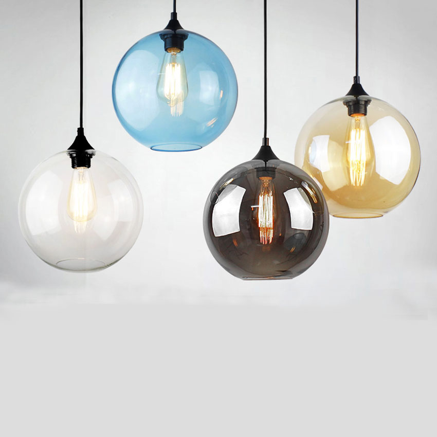 Modern simple glass hanging light fixture nordic creative 25cm colorful glass ball living dining room bedroom pendant light lamp free shipping modern glass pendant lamp 3 lights creative dining room experimental bottle hanging light fixture pl057