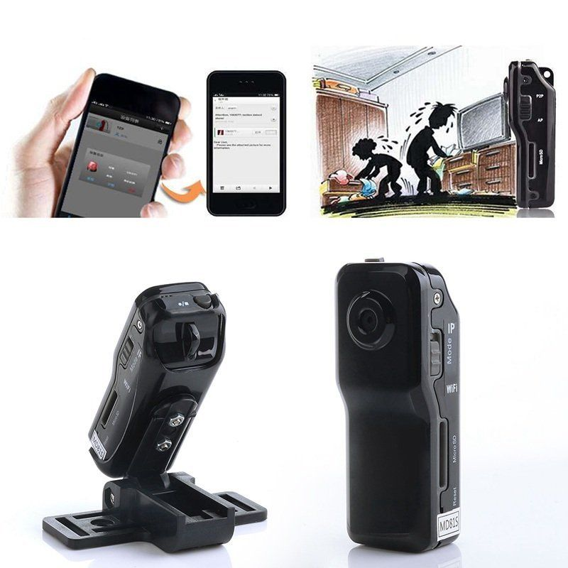 4G Card+MD80 Sport Camcorder Video Wireless Recorder DV/DVR Camera Cam Mini mini dv md80 dvr video camera 720p hd dvr sport outdoors with an audio support and clip