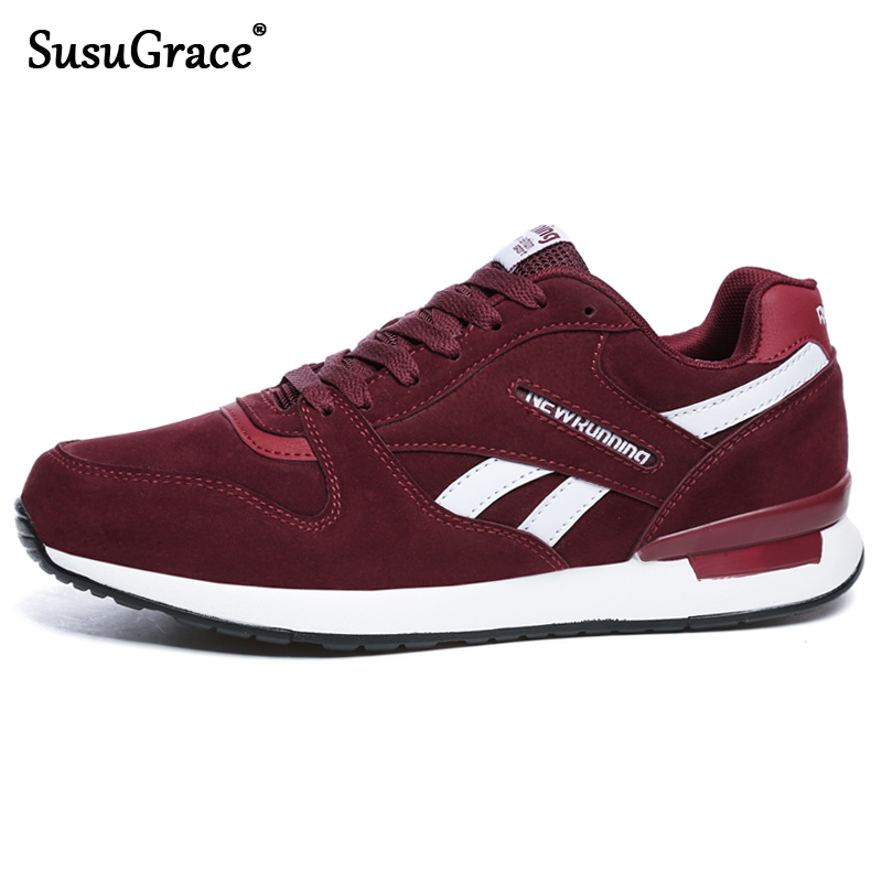 SusuGrace running shoes for Men outdoor sport trainers breathable sneakers light weight anti-skid summer autumn athlete's shoes