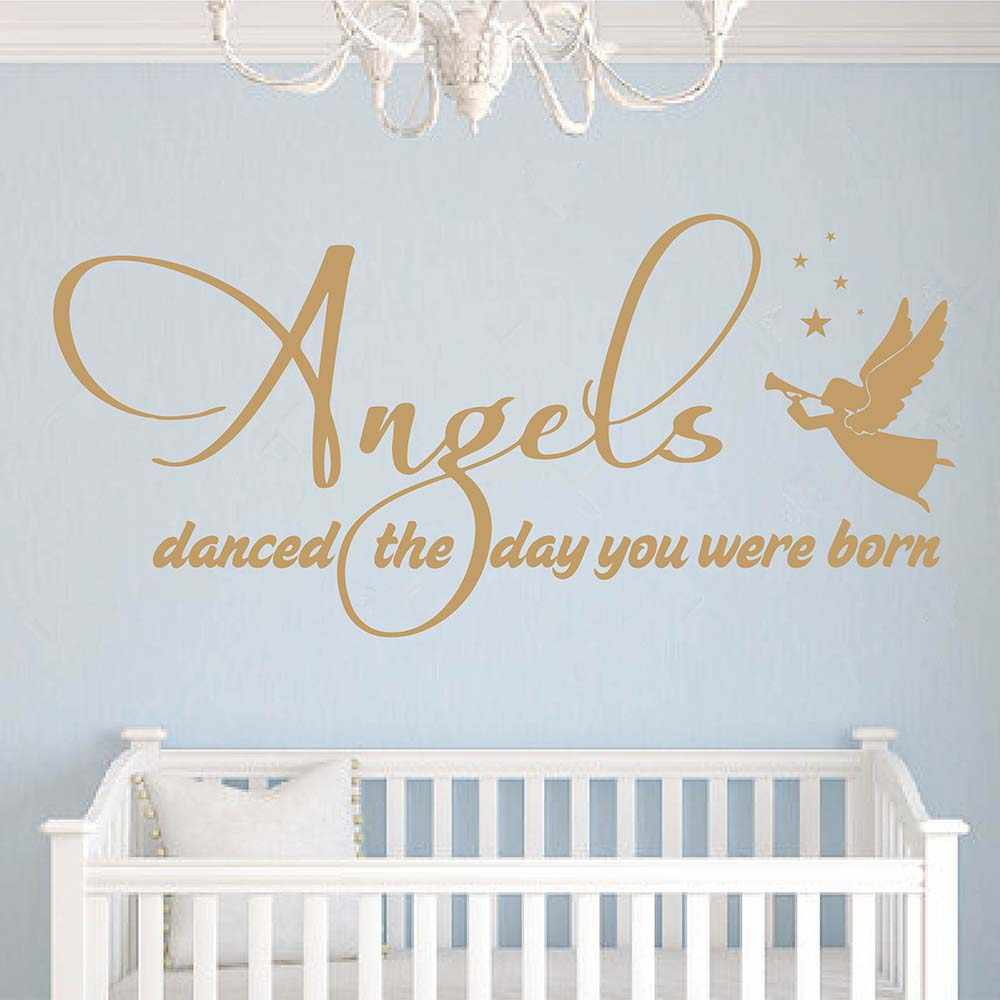 angels danced the day you were born quotes wall decal angel