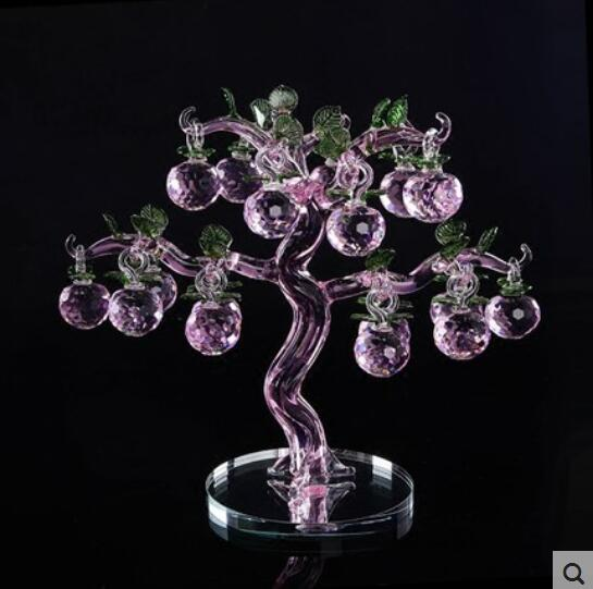 Crystal apples make money tree home crafts creative European wedding ...