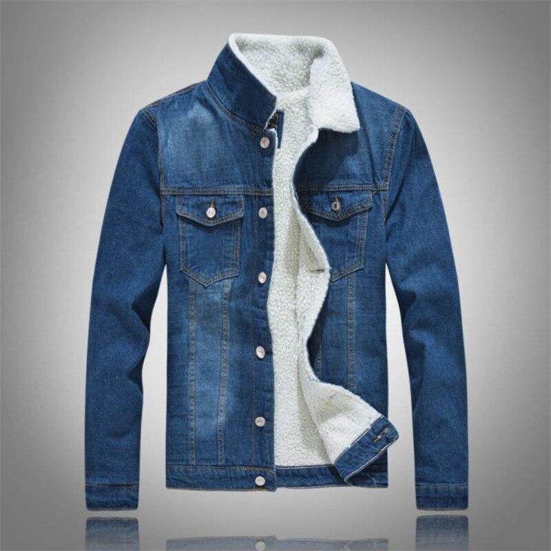 Le Noir Jeans Velours Manteau Top Chaud bleu Blue En Décontracté Revers De Denim Plus Couleur Mode Unie Hiver Veste Coton Hommes light OBpqnU0Y