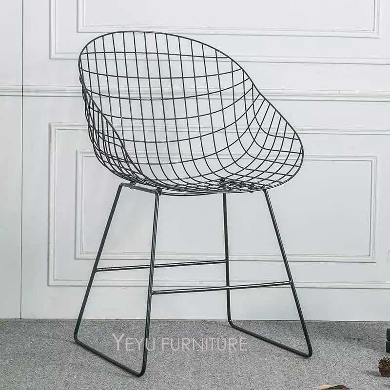 Modern Design Fashion Popular Loft Metal Wire Chair, Dining Room Furniture chair, living room Meeting computer study chair 1PC