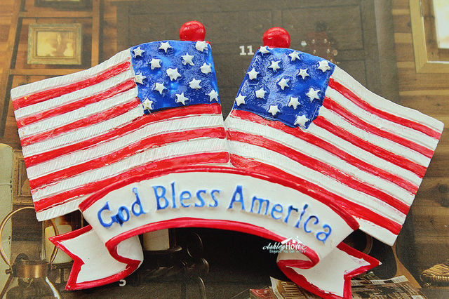 God Bless America American Flag Usa Tourist Travel Souvenir 3d