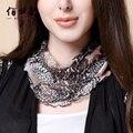New Silk Scarf Female Sleeve Head Collar 100% Silk Scarves Warm Winter