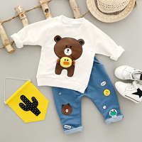 2016 Spring Fall Baby Clothing Sets Children Boys Girls Kids Suits Tracksuits Cotton Long Sleeve Shirt