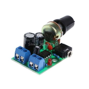 LM386 Mini Audio Power Amplifier Board Adjustable Volume DC 3V~12V 5V Module Whosale&Dropship image